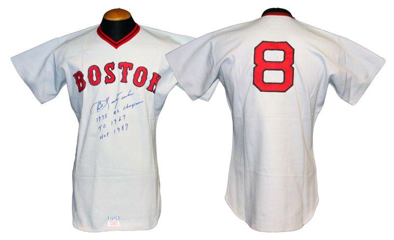 Lot Detail - 1975 Carl Yastrzemski Boston Red Sox Game-Used Jersey ... 4e7f997a653