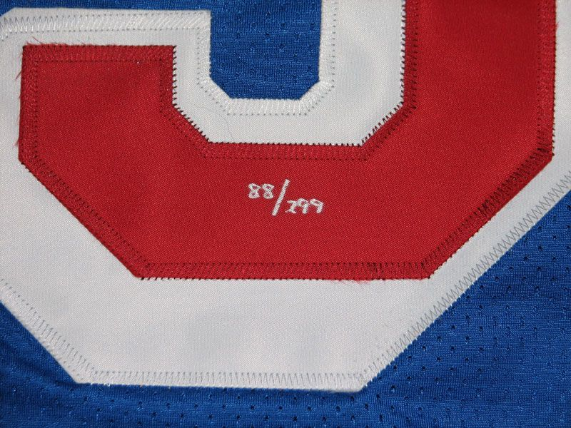 16dc75152 ... Wayne Gretzky New York Rangers Autographed Game-Issued Jersey Inscribed  4 18 99 ...