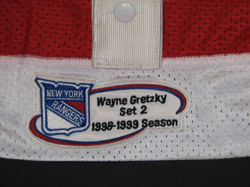 a304b6c9a ... Wayne Gretzky New York Rangers Autographed Game-Issued Jersey Inscribed  4 18 99