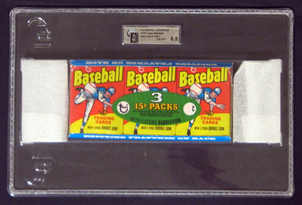 Lot detail 1975 topps baseball unopened wax pack tray gai 8 5 nm mt