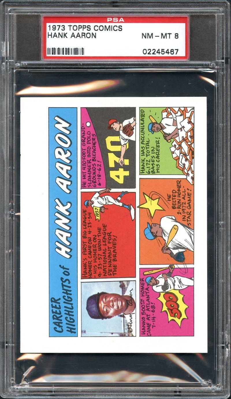 Lot Detail 1973 Topps Comics Hank Aaron Psa 8 Nmmt