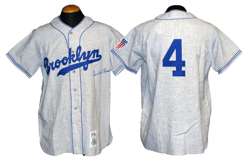 Lot Detail - Pee Wee Reese Signed Brooklyn Dodgers Mitchell and Ness ... 94dd75a1920