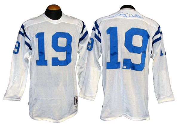 huge selection of 5bc76 f865f Lot Detail - Johnny Unitas Signed Mitchell and Ness 1958 ...