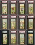 1911 T201 Mecca Double Folders Complete Set All PSA/SGC Graded