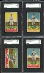 1933 DeLong Group of (4) Different with HOFers All SGC Graded