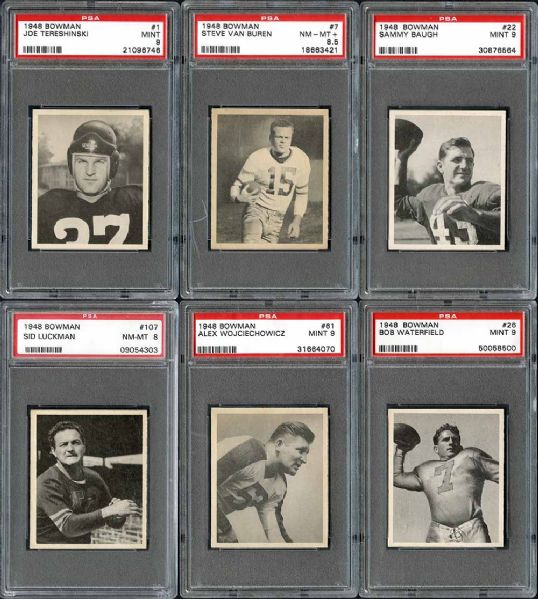 1948 Bowman Football Complete Set Ranked #2 on PSA Set Registry