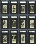 1916 M101-4 Blank Back Group of 43 All SGC Graded