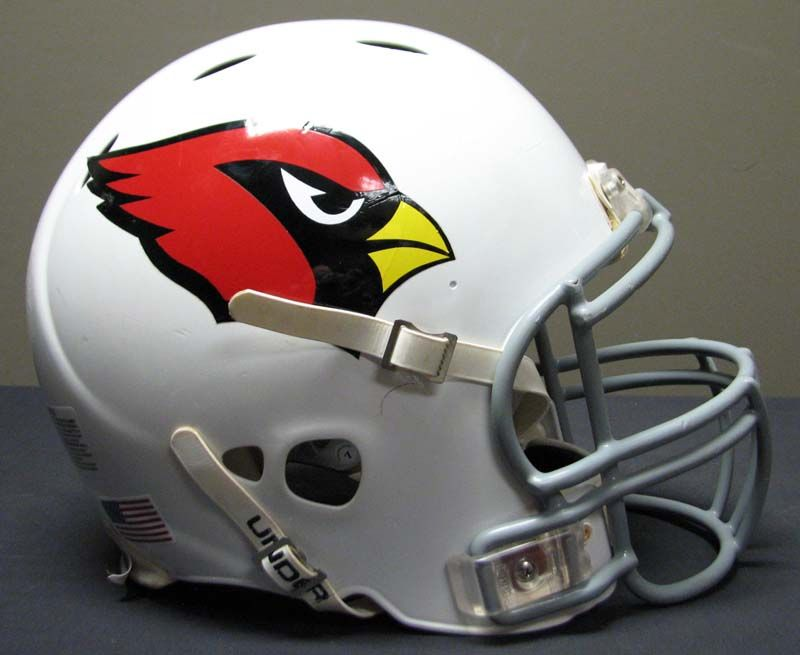 fe6d1b9bb33 ... 2010 Larry Fitzgerald St. Louis Cardinals Game-Used Super Bowl XLIII  Helmet ...