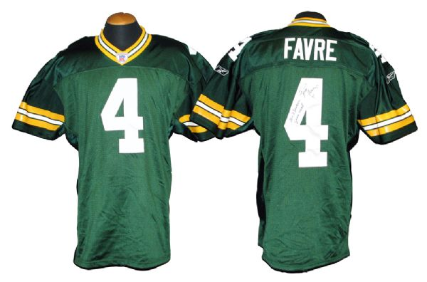 2002 Brett Favre Green Bay Packers Game-Used and Signed Jersey With Favre LOA