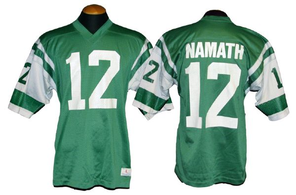 separation shoes d4648 e2fb1 Lot Detail - 1973-75 Joe Namath New York Jets Game-Used Jersey