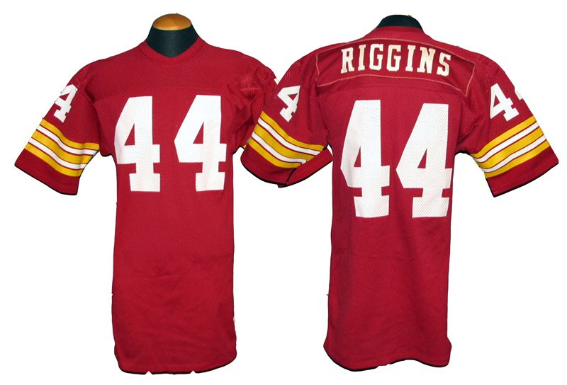 33cc1f084 ... 1970s-80s John Riggins Washington Redskins Game-Used Jersey With A  Massive Amount Of ...