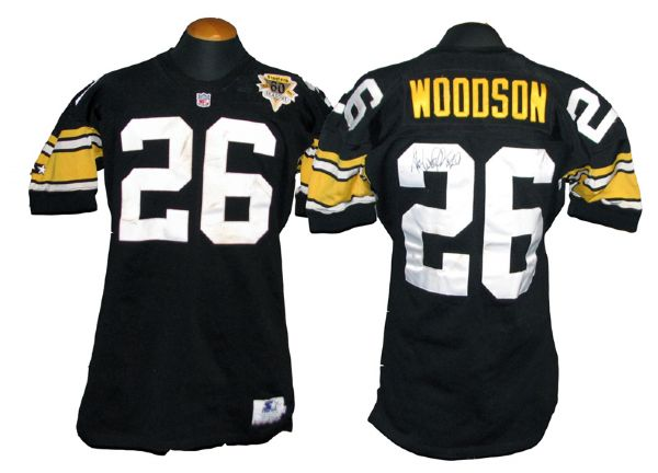 detailed look ed015 b542f Lot Detail - 1992 Rod Woodson Pittsburgh Steelers Game-Used ...