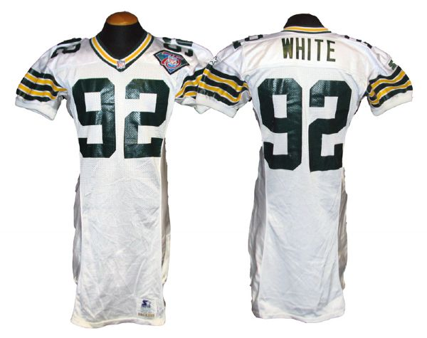 buy popular 6fbf0 e1bd2 Lot Detail - 1994 Reggie White Green Bay Packers Game-Used ...