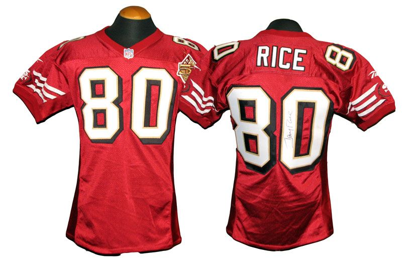 huge selection of a021f 2610f 49ers jersey rice