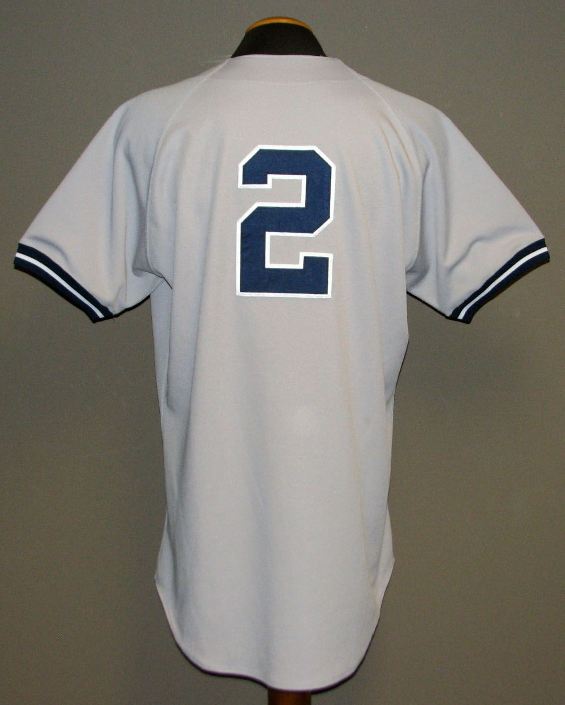 ... 1998 Derek Jeter New York Yankees Game-Used Road Jersey MEARS LOA ... ba8f577bdc5