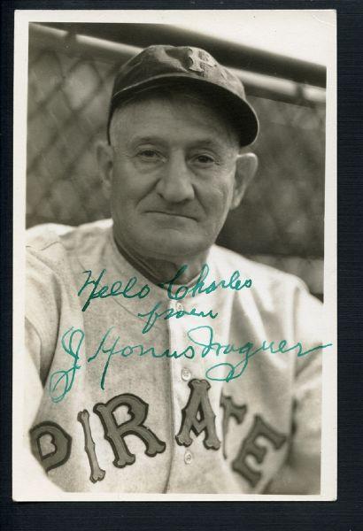 honus wagner, signed photo, type I