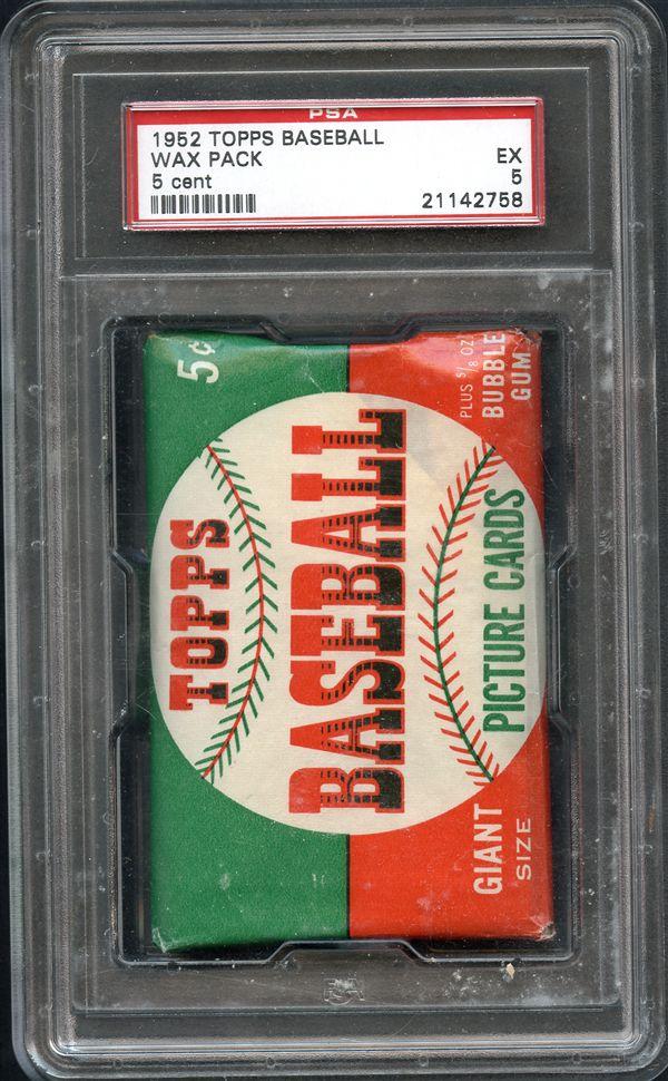 Lot Detail 1952 Topps Unopened Baseball Wax Pack Psa 5 Ex