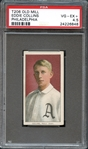 1909 T206 Old Mill Eddie Collins PSA 4.5 VG/EX+