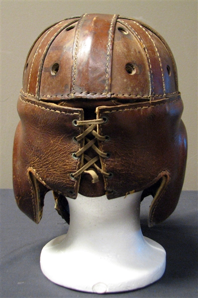 Exceptionally Scarce Early 1930s Reach Executioner Leather Football Helmet