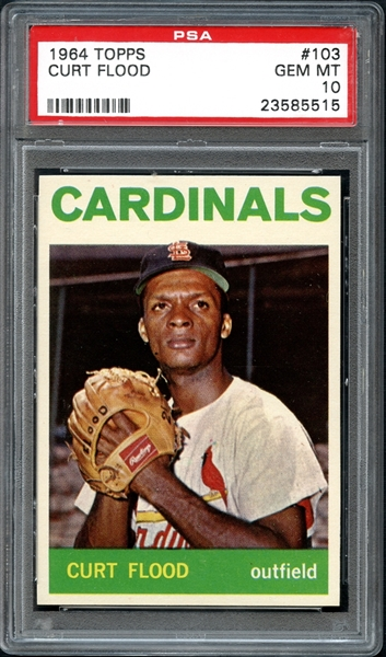 1964 Topps #103 Curt Flood PSA 10 GEM MINT