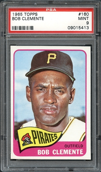 roberto clemente, graded card, baseball card
