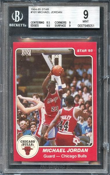 Lot Detail 1984 85 Star 101 Michael Jordan Bgs 9 Mint