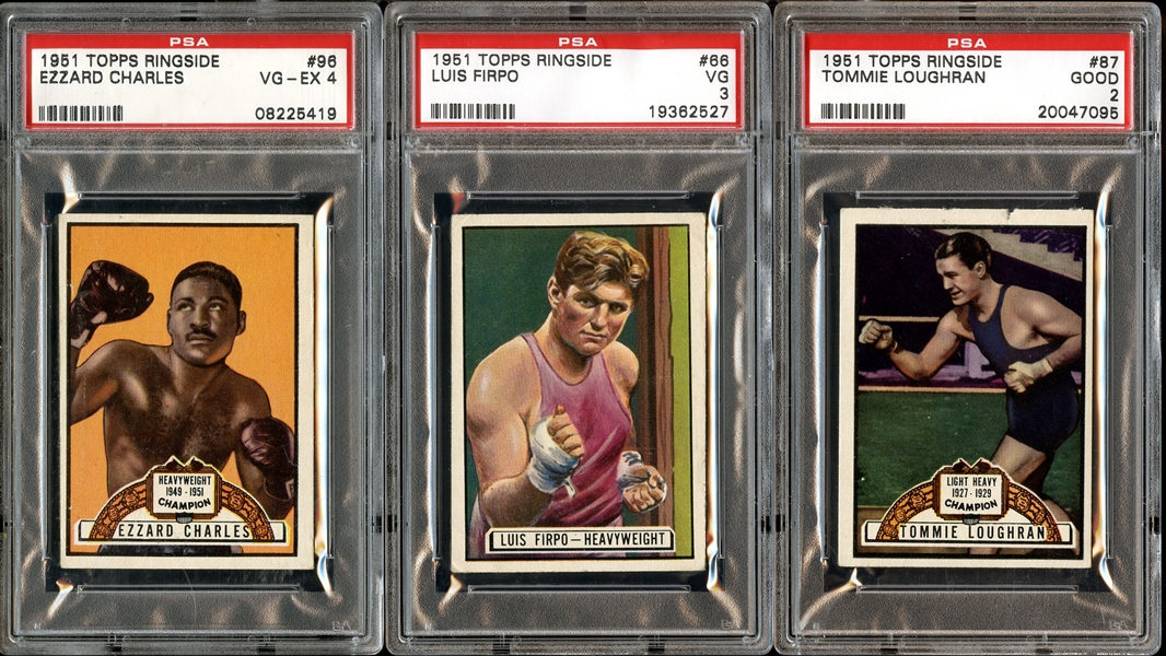 Lot detail 1951 topps ringside near complete set 89 96 with psa