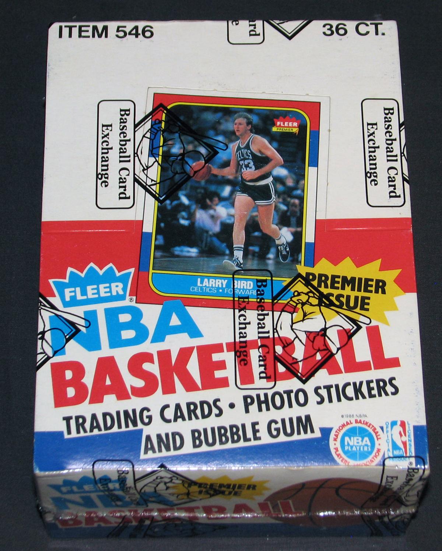 fleer, wax box, basketball cards