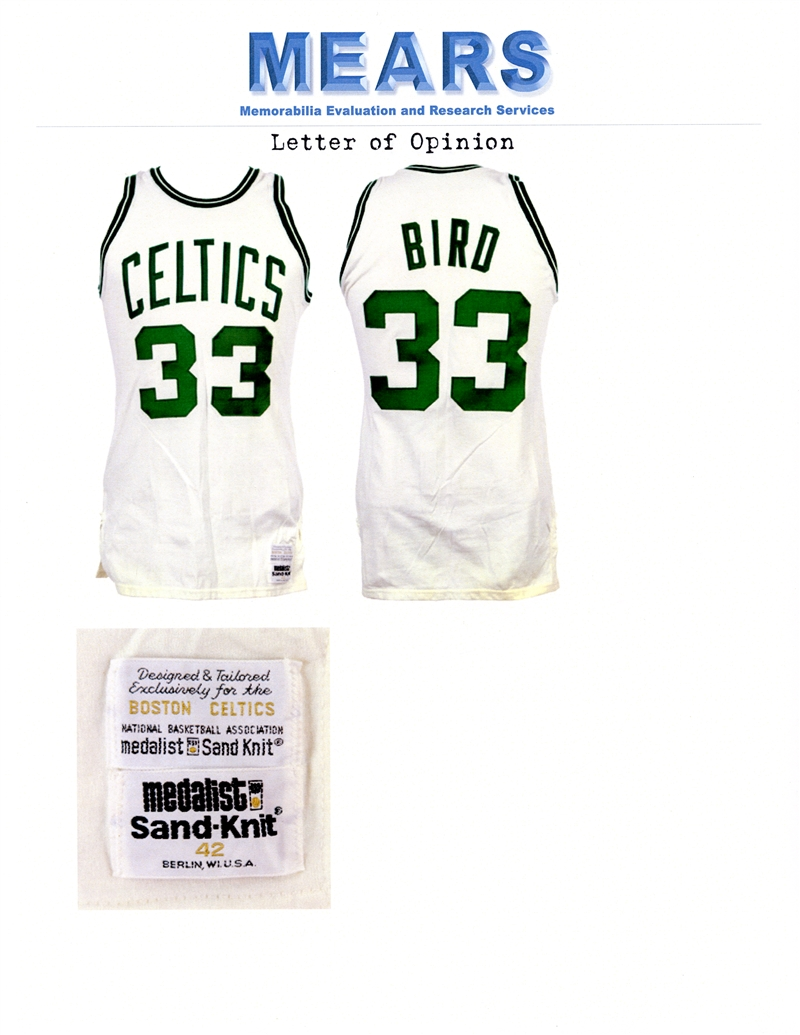 325b38bbb65 ... Outstanding 1979-80 Larry Bird Boston Celtics Game Worn Rookie Uniform  MEARS A10 - The ...