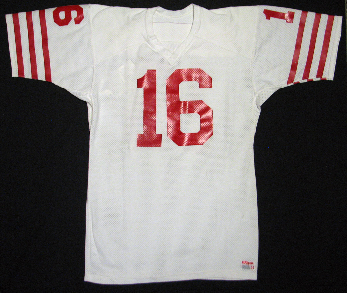 d99c08d54 1979-81 Joe Montana San Francisco 49ers Game Worn Rookie Era Jersey MEARS  A10 ...