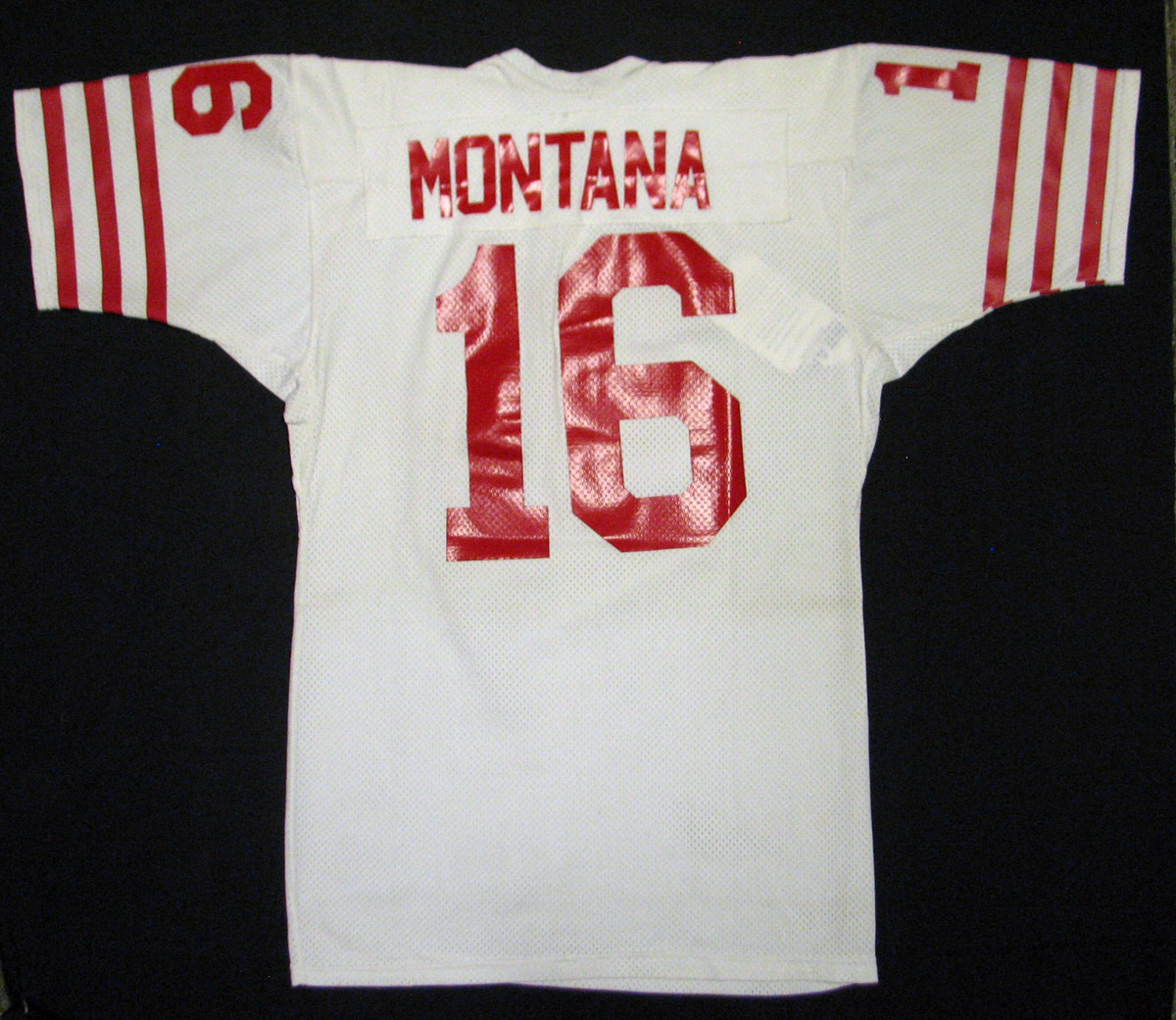 d7b8477db ... 1979-81 Joe Montana San Francisco 49ers Game Worn Rookie Era Jersey  MEARS A10 ...