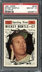 1961 Topps #578 Mickey Mantle PSA 10 GEM MINT