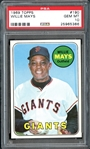 1969 Topps #190 Willie Mays PSA 10 GEM MINT