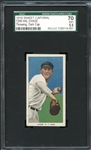 1910 T206 Sweet Caporal 350/30 Hal Chase Throwing, Dark Cap SGC 70 EX+ 5.5