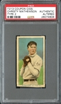 T213 Coupon Cigarettes Christy Mathewson PSA Authentic