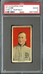 T213 Coupon Cigarettes Ty Cobb Red Portrait PSA 2 GOOD