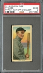 T213 Coupon Cigarettes Ty Cobb Bat Off Shoulder PSA 2 GOOD