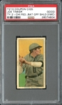 T213 Coupon Cigarettes Joe Tinker Bat Off Shoulder PSA 2(MC) GOOD