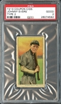 T213 Coupon Cigarettes Johnny Evers PSA 2 GOOD