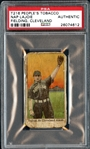 T216 Peoples Tobacco Nap Lajoie Fielding, Cleveland PSA Authentic