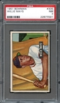 1951 Bowman #305 Willie Mays PSA 7 NM