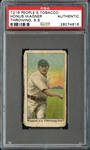 T216 Peoples Tobacco/Kotton Cigarettes Honus Wagner Throwing PSA Authentic - The Only Example Ever Graded!