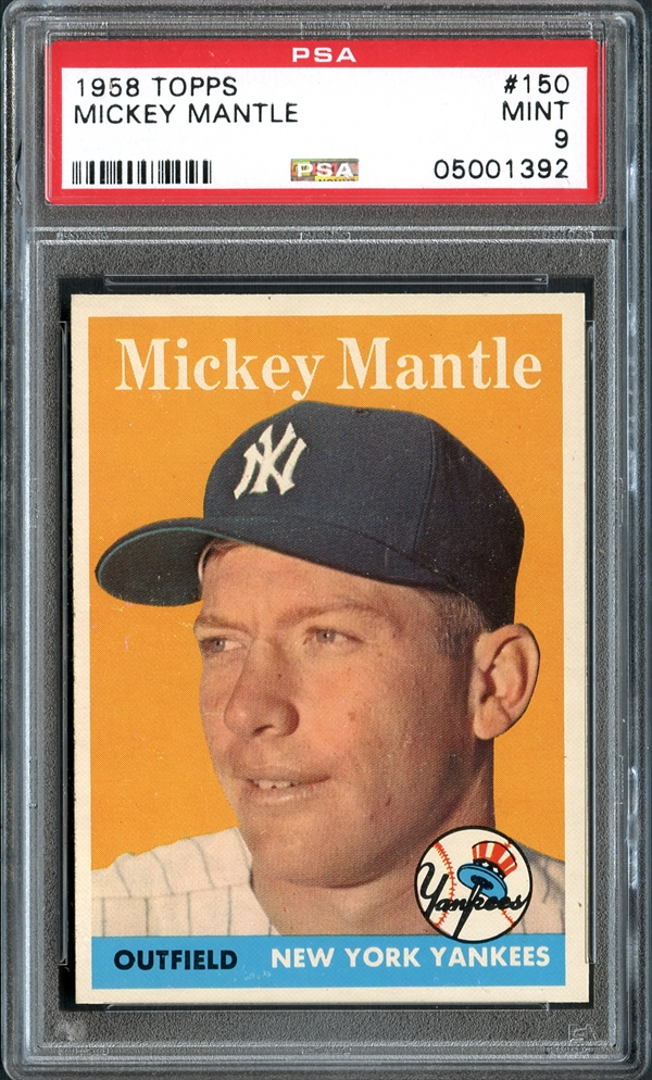 mickey mantle, baseball, sports card