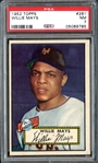 1952 Topps #261 Willie Mays PSA 7 NM