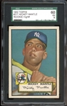 1952 Topps #311 Mickey Mantle SGC 60 EX 5