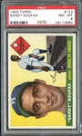1955 Topps #123 Sandy Koufax PSA 8 NM/MT
