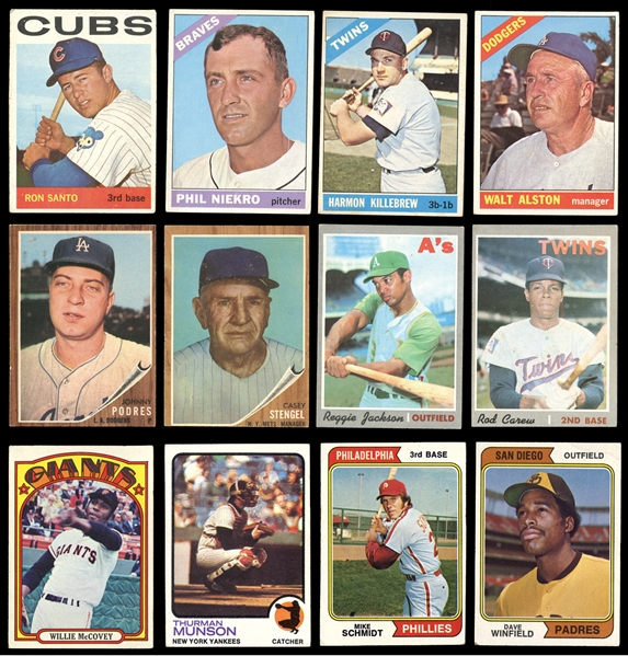 1960s-70s Baseball Shoebox Collection Of