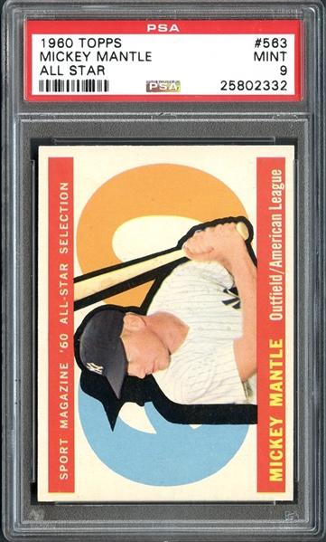 vintage baseball cards, Mickey Mantle