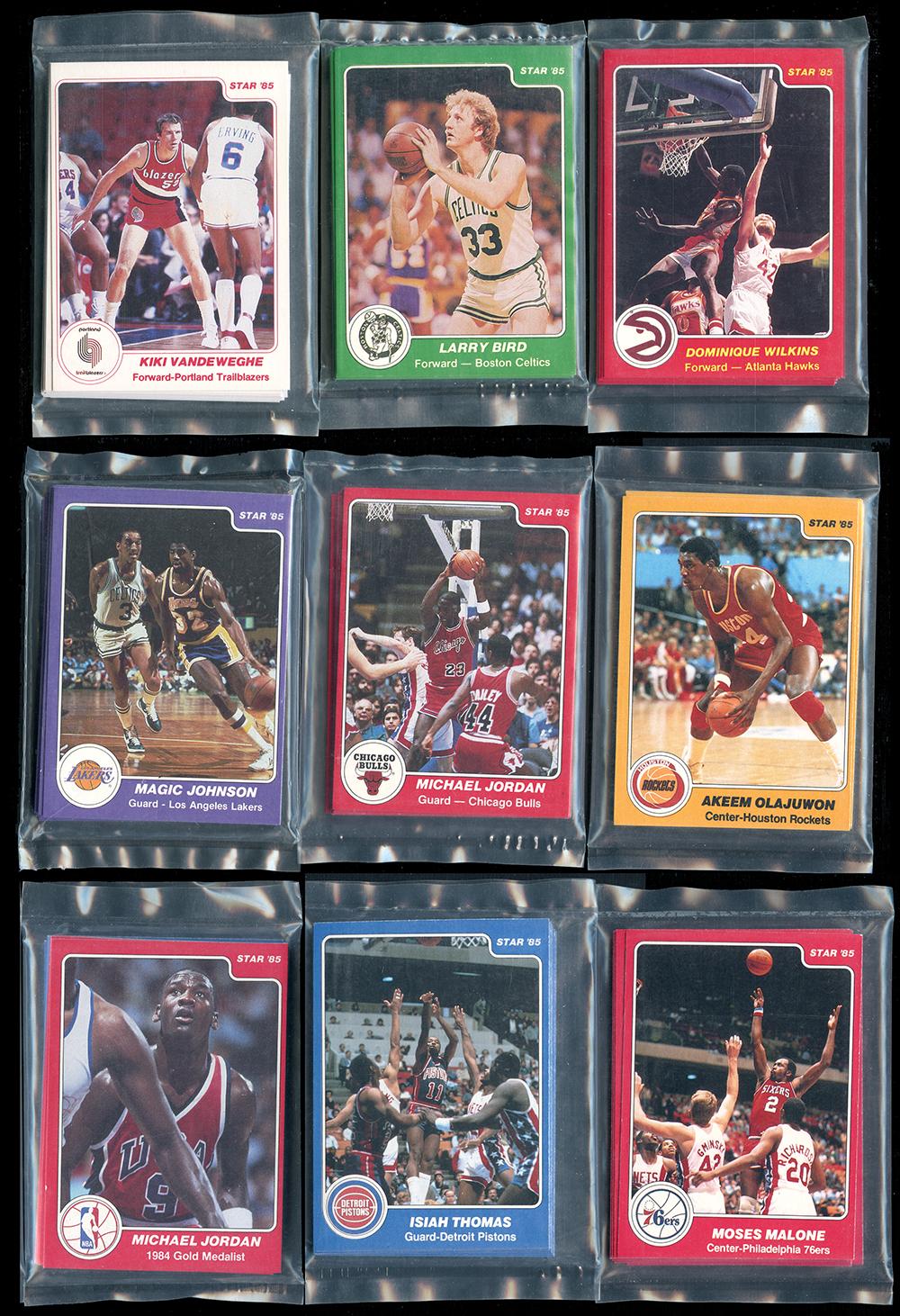 1984 85 Star Company Complete Set With 101 Michael Jordan In Original Team Bags