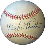 Gorgeous Babe Ruth Single-Signed Baseball